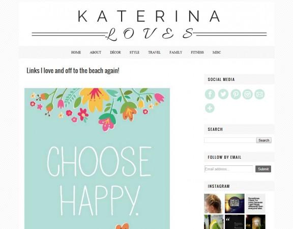 Κατασκευή blog Katerina Loves